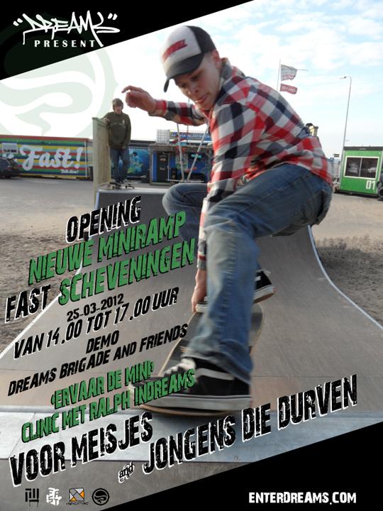 Opening nieuwe miniramp FAST Scheveningen